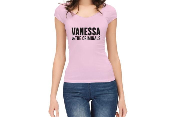 Camiseta Vanessa & The Criminals Rosa Chica